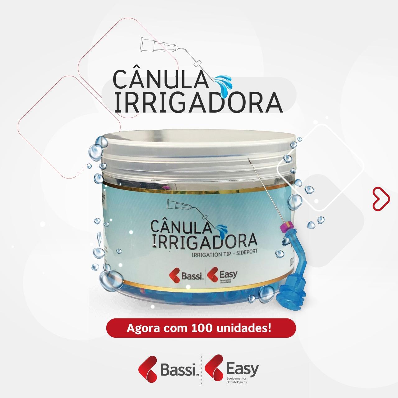 Cânula Irrigadora Bassi(C/100 Unidades) - Easy  - Dental Paiva