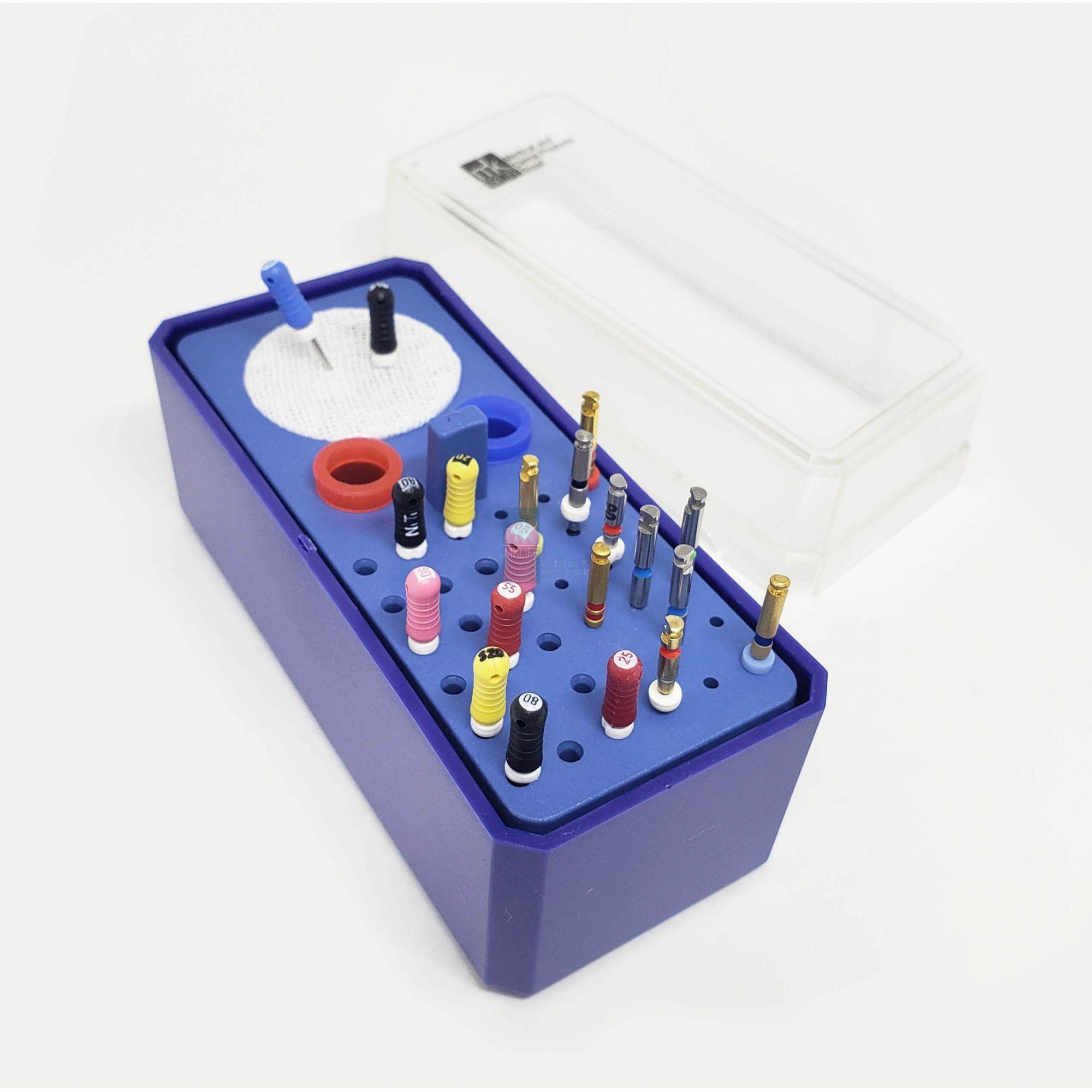 Estojo p/ Autoclavar Limas (36 Instrumentos + Tamborel) - MkLife  - Dental Paiva