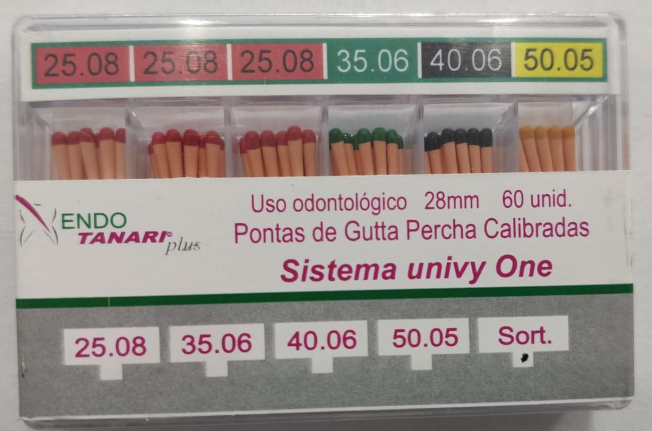 Guta Percha Calibrada Univy One - Tanari  -  Dental Paiva