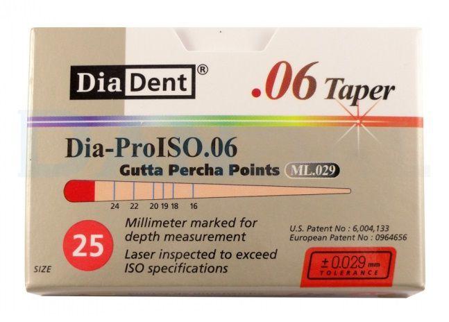 Guta Percha Dia-Pro Iso .06 - Diadent  - Dental Paiva