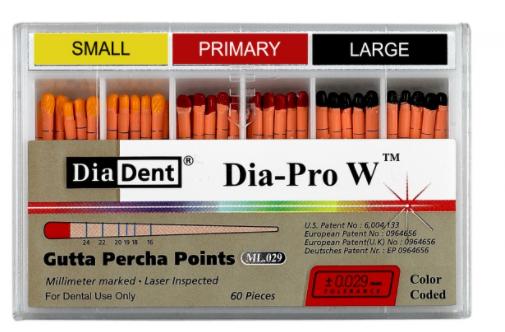 Guta Percha Dia-Pro W - Diadent  -  Dental Paiva