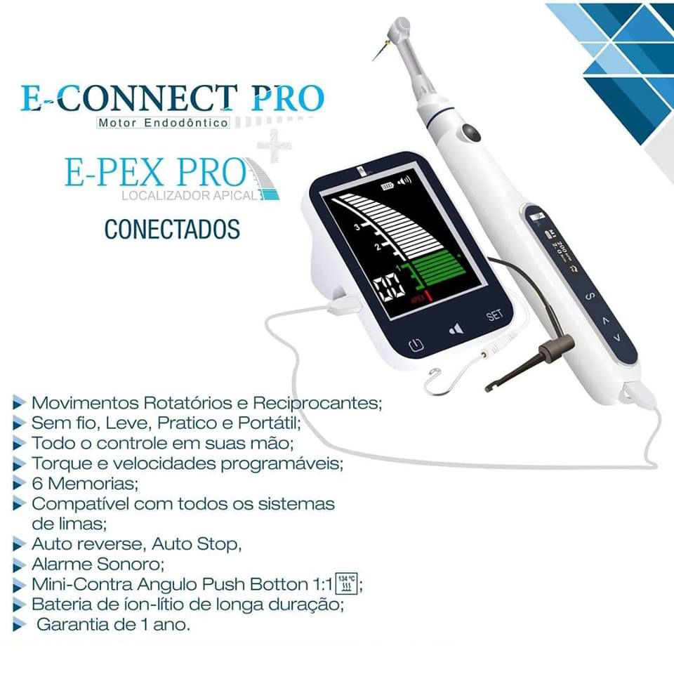 Kit Motor E-Connect Pro + Localizador E-Pex Pro - MkLife  -  Dental Paiva