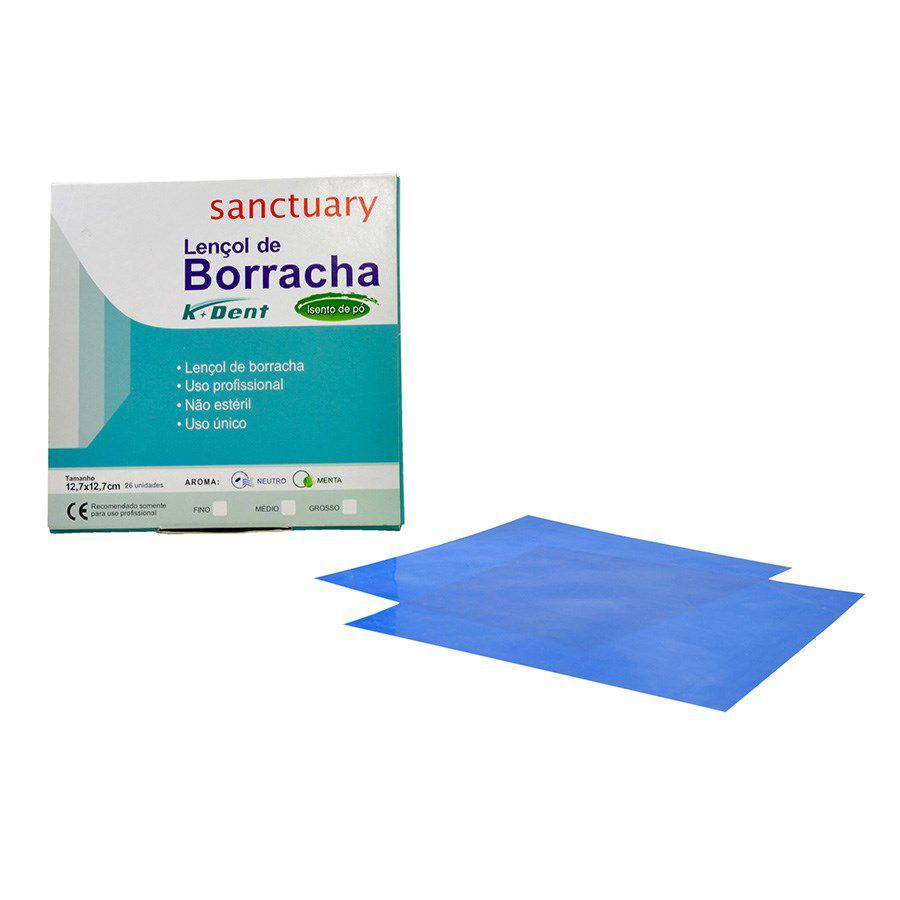 Lençol de Borracha Azul (13,5x13,5) - K Dent  - Dental Paiva