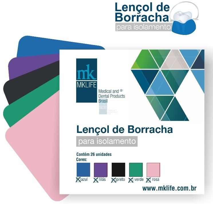 Lençol de Borracha Colorido (12,7x12,7) - MkLife  -  Dental Paiva