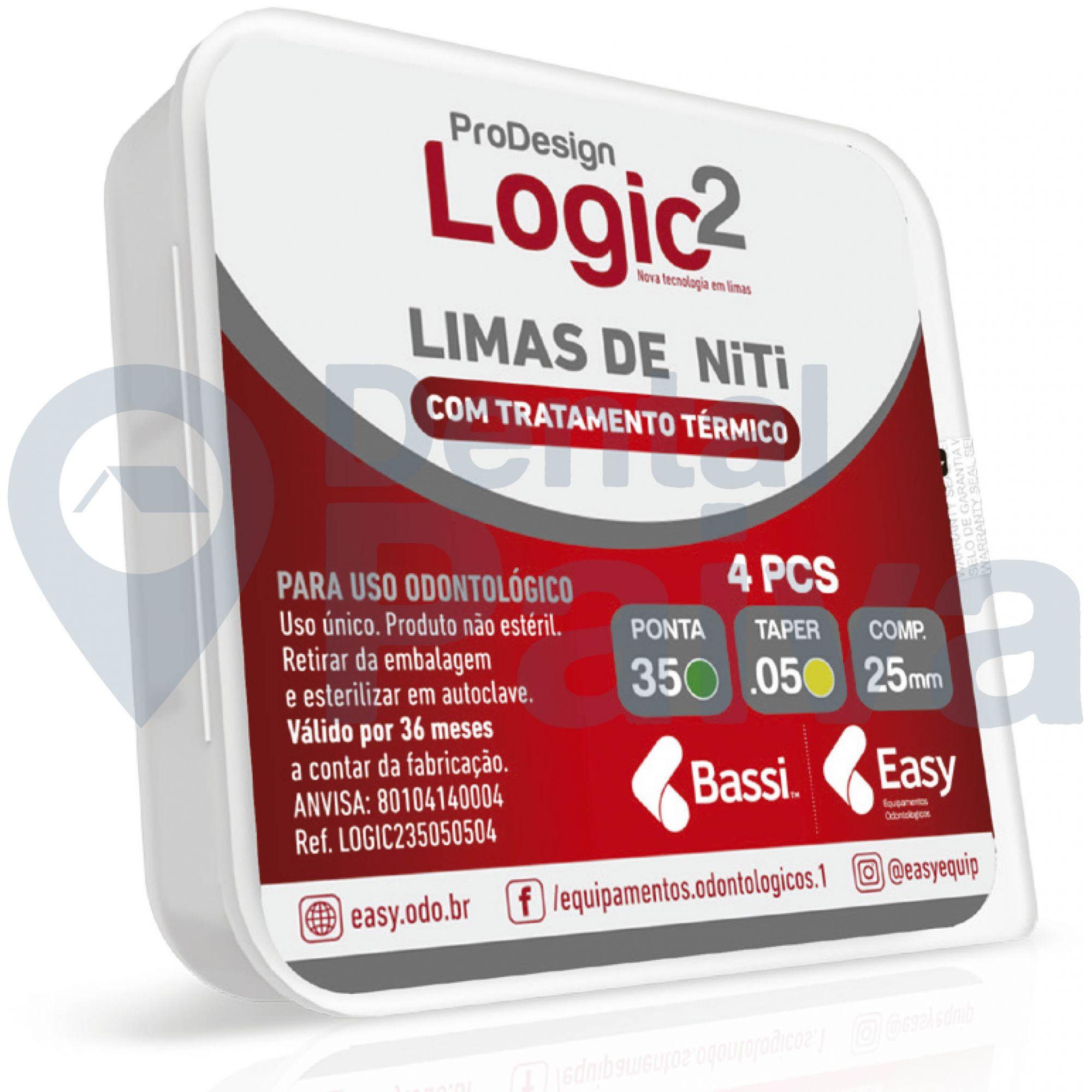 Lima  ProDesign Logic 2 25mm (C/4 Unidades) - Easy  -  Dental Paiva