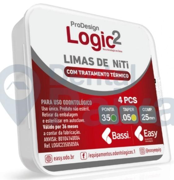Lima  ProDesign Logic 2 21mm (C/4 Unidades) - Easy  -  Dental Paiva