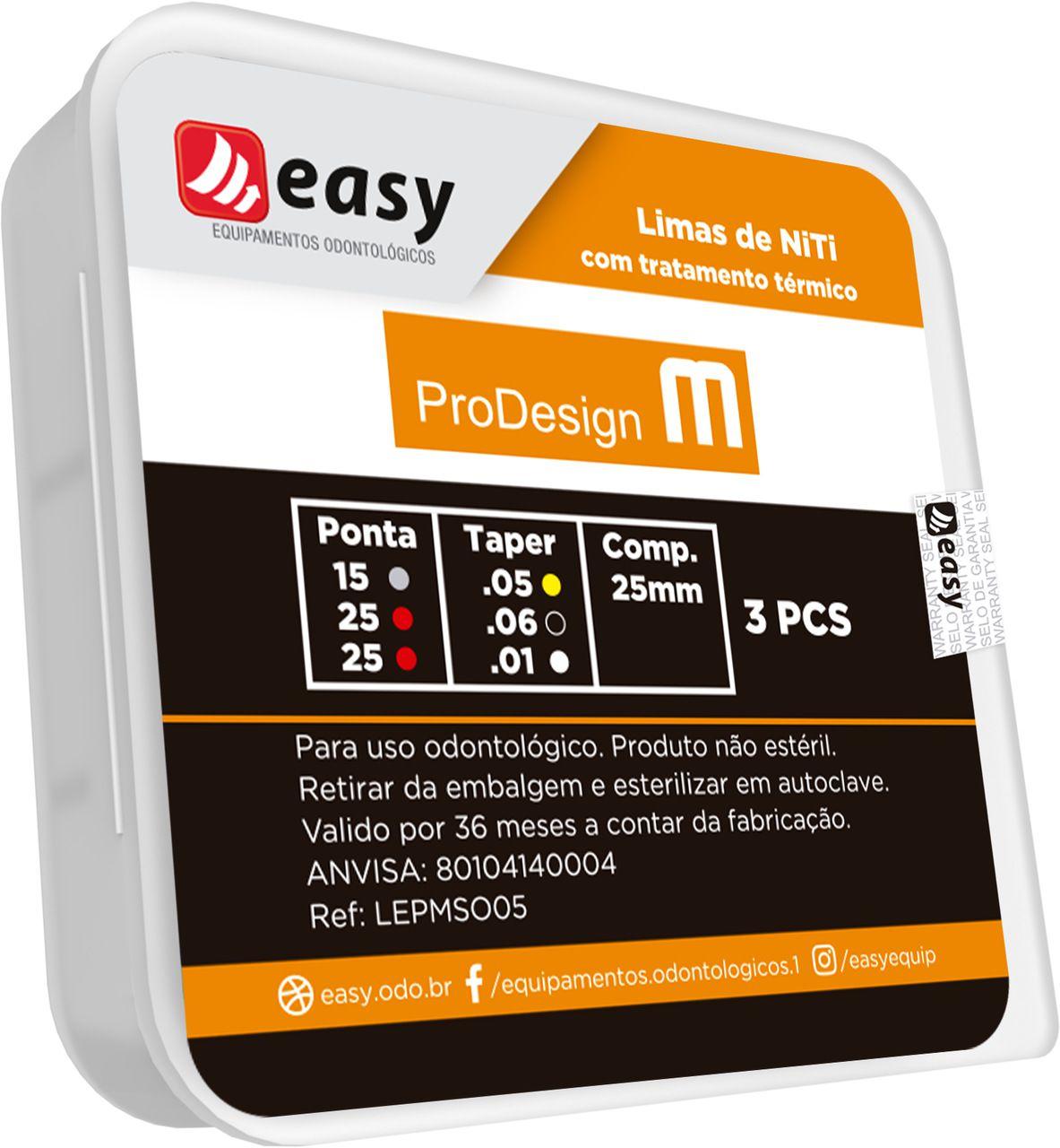Lima  ProDesign M (C/3 Unidades Sortidas) - Easy  -  Dental Paiva
