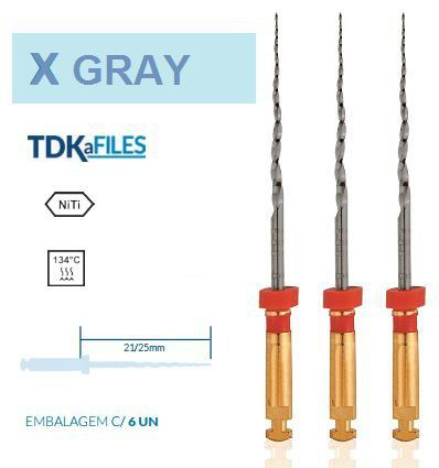 Lima X Gray Sortida (C/6 Unidades) 25mm - Tdk  -  Dental Paiva