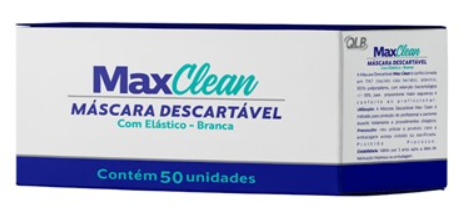 Máscara Descartável Tripla Proteção (C/ 50 Unidades ) - MaxClean  -  Dental Paiva