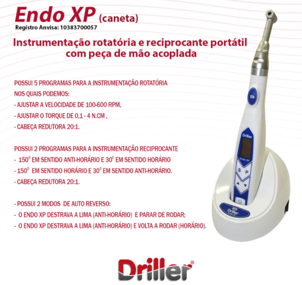Motor Endodôntico Sem Fio ENDO XP - Driller  -  Dental Paiva