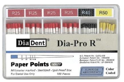 Ponta de papel Dia-Pro R - Diadent  - Dental Paiva