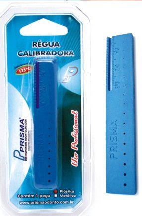 Régua Calibradora Plástico - Prisma  -  Dental Paiva