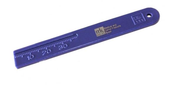 Régua Milimetrada Plástico - MkLife   -  Dental Paiva