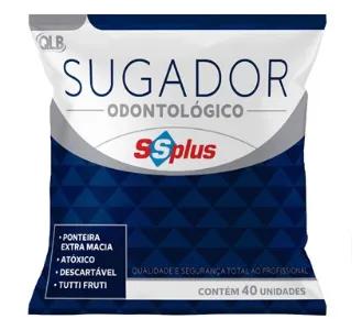 Sugador de Saliva Descartável (C/ 40 Unidades) - SSplus  - Dental Paiva