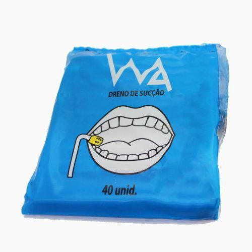 Sugador de Saliva Descartável (C/ 40 Unidades) - WA  -  Dental Paiva