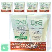 Protetor Solar e Hidratante Esporte Bike Divina & Beauty 5 Kits