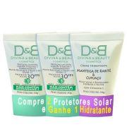 Protetor Solar FPS30 Rosto e Corpo Divina & Beauty Compre 2 Ganhe Creme 30g