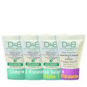 Protetor Solar FPS30 Rosto e Corpo Divina & Beauty Compre 3 Ganhe Creme 30g