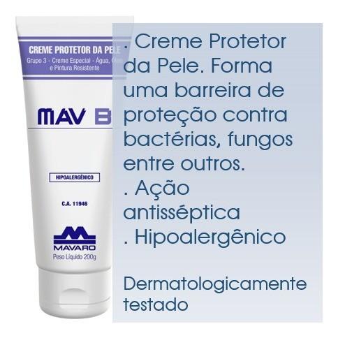 Creme Antisséptico hidratante MavB 120g Ação Virucida