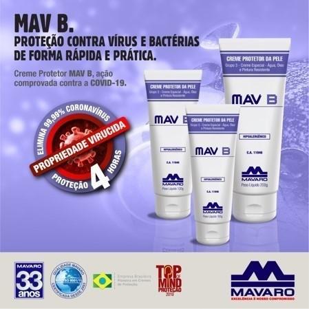 Creme Antisséptico hidratante MavB Promoção 3 Unidades de 120g