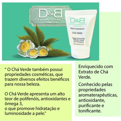 Hidratante Corporal Chá Verde Divina & Beauty linda embalagem  com 250g