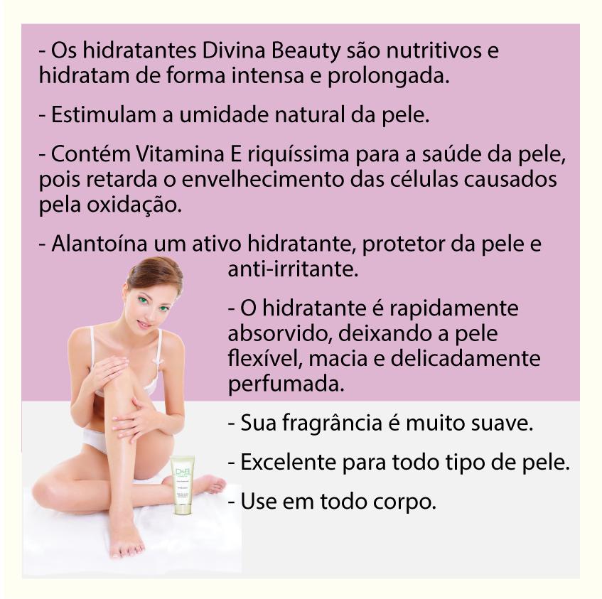 Hidratante Chá Verde Divina & Beauty mini-Bisnaga prática para bolsa e necessáire com 30g
