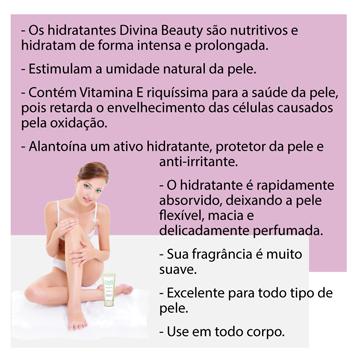 Creme Hidratante Corporal Chá Verde Divina & Beauty prática para bolsa e necessáire com 50g