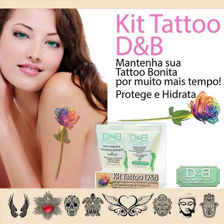 Tattoo Creme Hidratante Chá Verde e Protetor Solar FPS30 Divina&Beauty