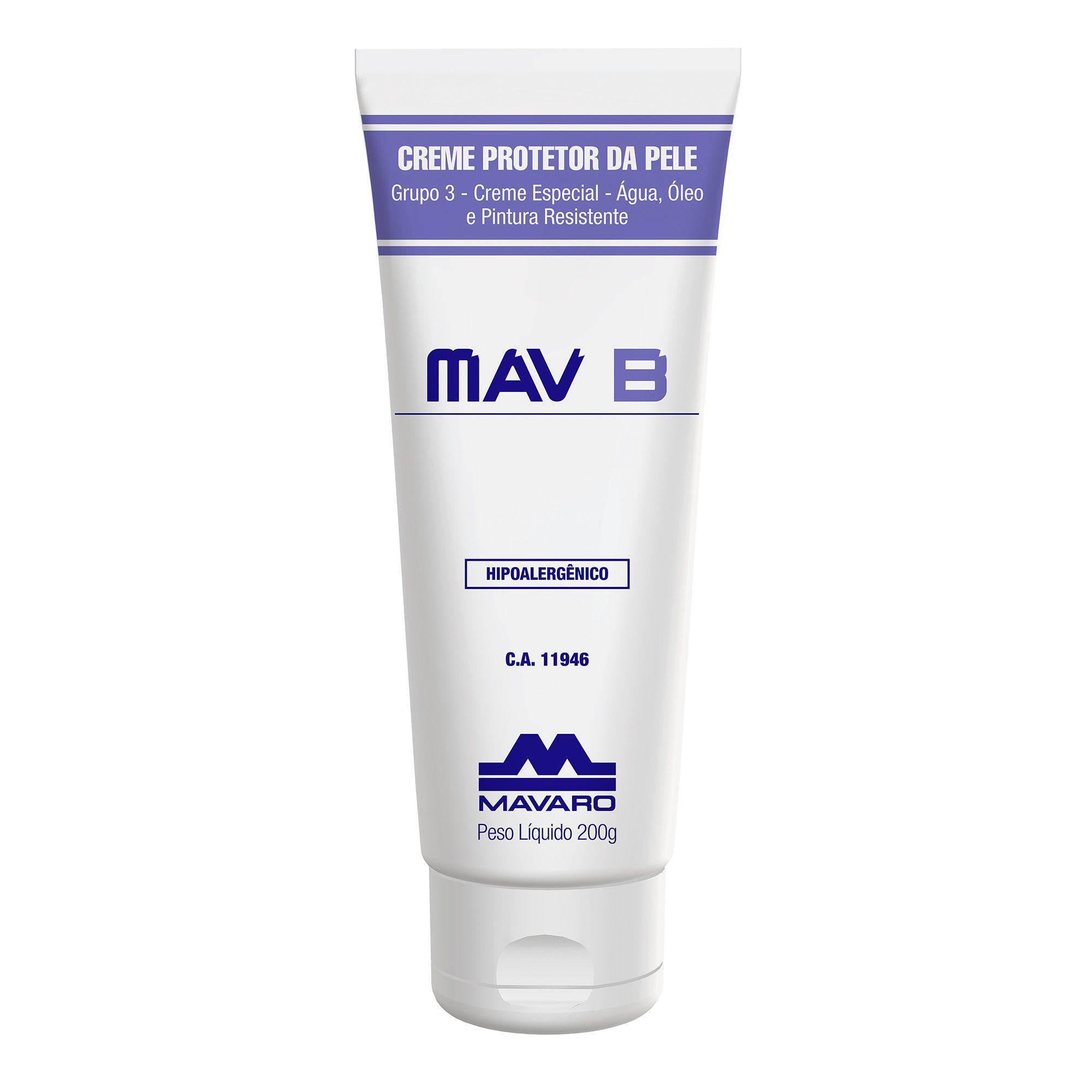 Creme protetor Ação Antisséptica 200g MavB Ação Virucida