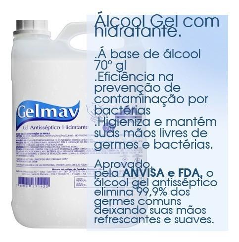 Gel Antisséptico 5 litros GelMav