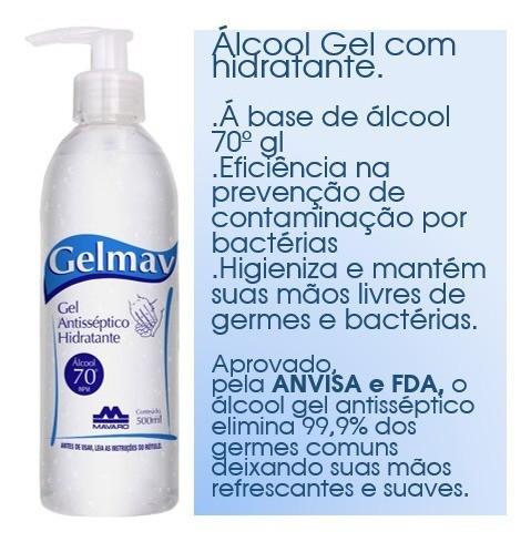 Gel Antisséptico Hidratante 500ml GelMav