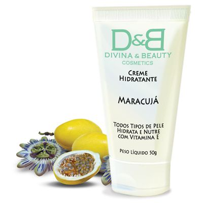 Maracujá Creme Hidratante Divina & Beauty 50g