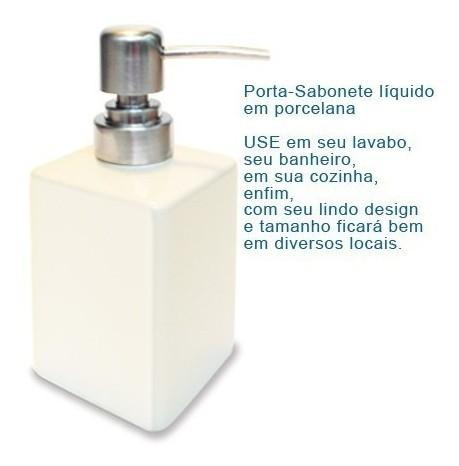 Porta ÁlcoolGel e Sabonete líquido em porcelana