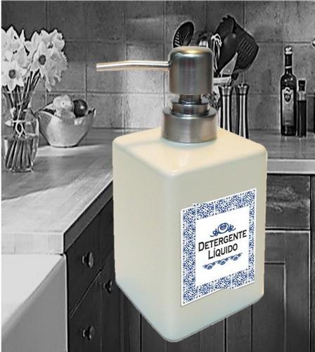 Porta Detergente Líquido em porcelana