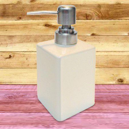 Porta Sabonete líquido em porcelana Ganhe Pote Multi-Uso