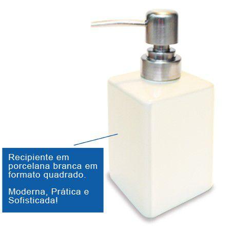 Porta Sabonete líquido em porcelana Promoção 2 Unidades