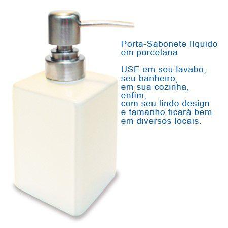 Porta Sabonete líquido em porcelana + Protetor Solar 30g Promoção