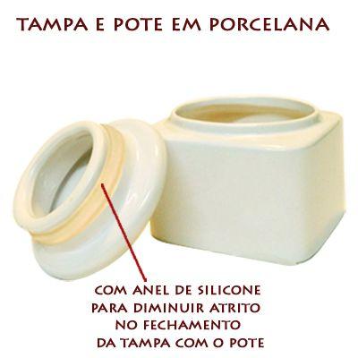 Pote multi-uso em porcelana + Protetor Solar 30g Promoção