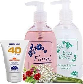 Proteção D&B - Sabonete Floral e Protetor Solar FPS40