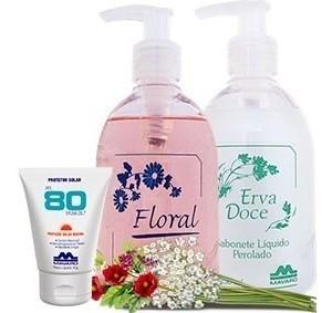 Proteção D&B - Sabonete Floral e Protetor Solar FPS80