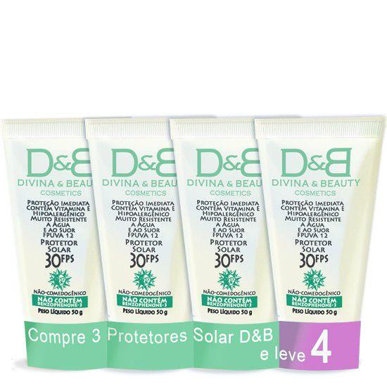 Protetor Solar D&B de 50g Compre 3 Leve 4