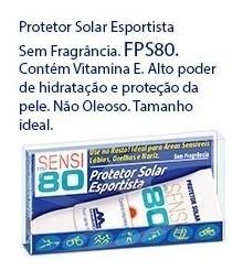 Protetor Solar Esportista FPS80 sem fragrância