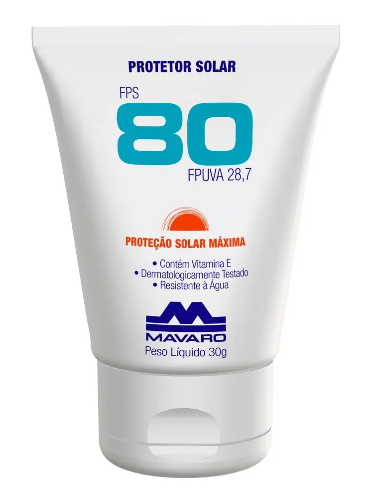 Protetor Solar Facial e Corporal FPS80 Vitamina E Hidratante 30g