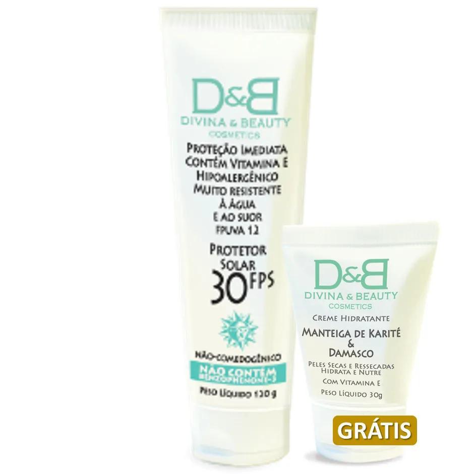 Protetor Solar Fps30 Ganhe Creme hidratante com vitamina