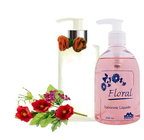 Sabonete Floral e lindo recipiente