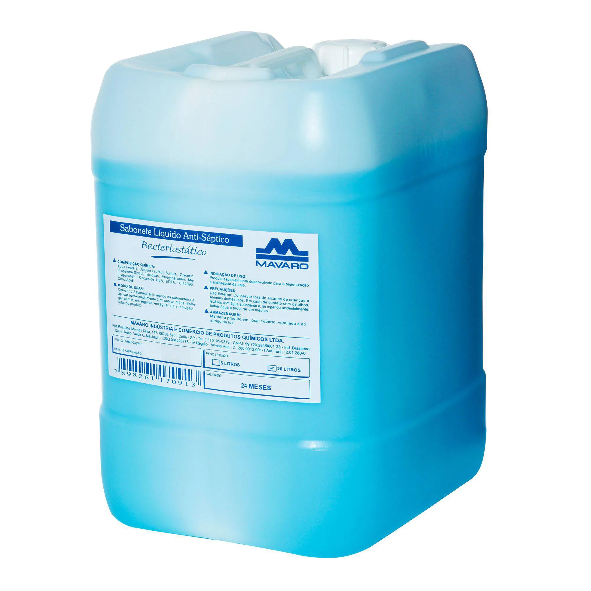 Sabonete líquido Antisséptico Bacteriostático 20l