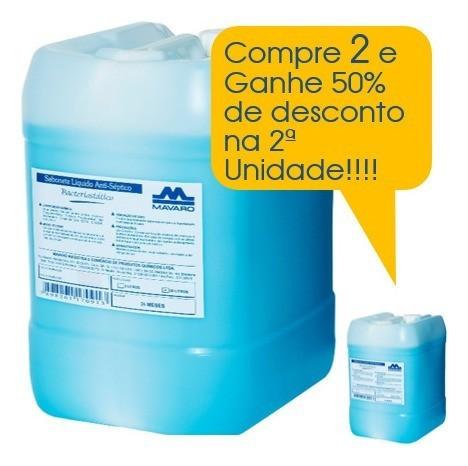 Sabonete líquido Antisséptico Bacteriostático 20l Promoção 2 Unidades