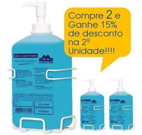 Sabonete líquido Antisséptico Bacteriostático 2,8l Promoção 2 Unidades