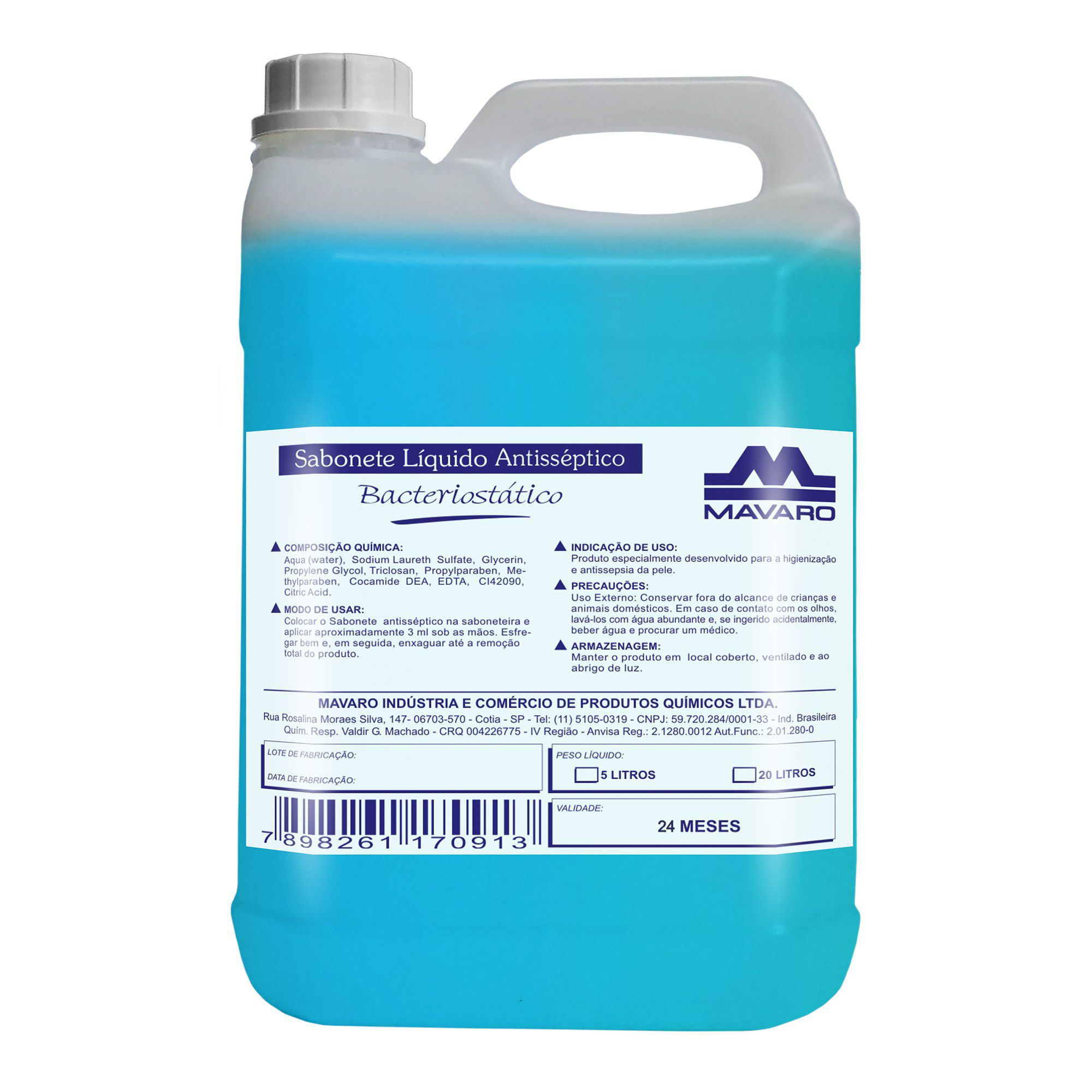 Sabonete líquido Antisséptico Bacteriostático 5l