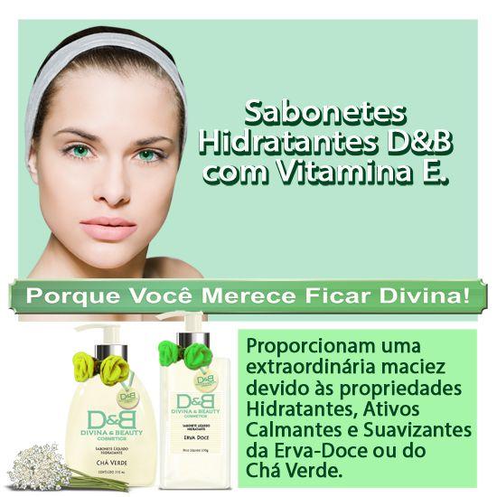 Sabonete líquido hidratante Chá Verde Mãos e Corpo Divina & Beauty